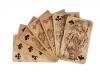 Karty do gry wykonane w X Pawilonie pod koniec XIX wieku