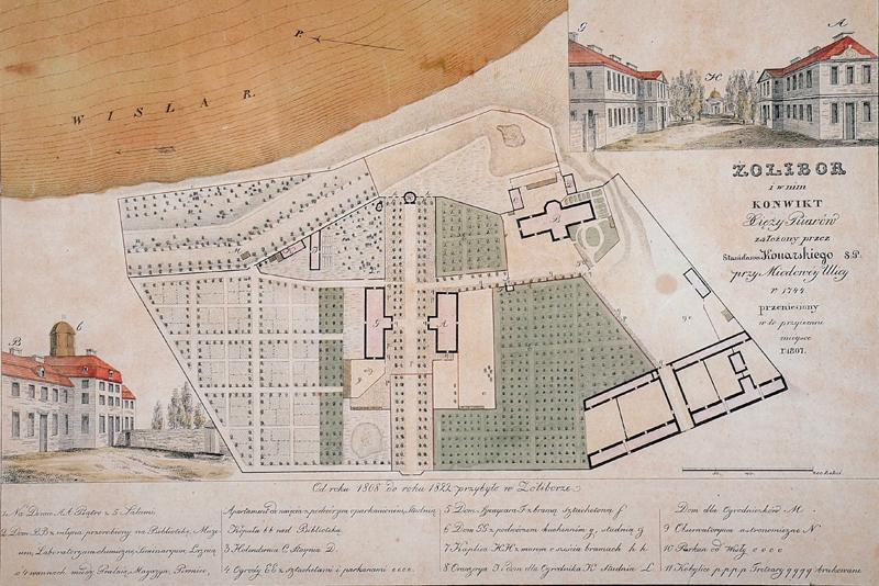 Konwikt pijarów (ryc. z ok. 1822 r.)