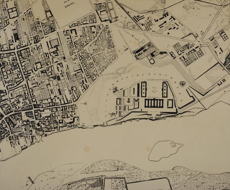 Fragment planu Warszawy z Cytadelą
