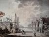 Akwarela Zygmunta Vogla - widok XVIII-wiecznych koszar gwardii koronnej pieszej