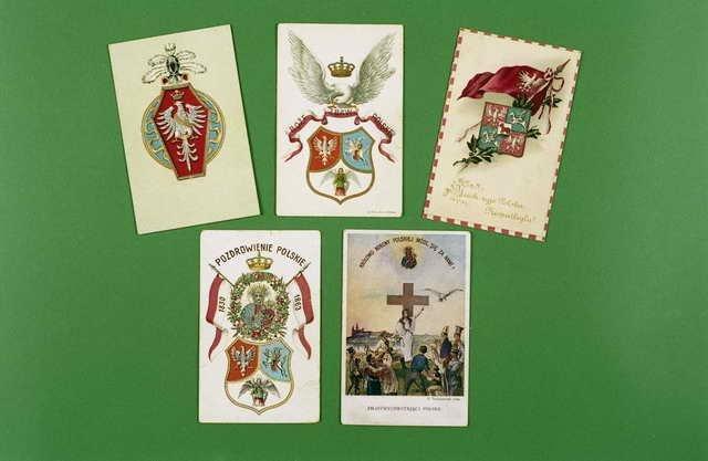 Pocztówki patriotyczno-symboliczne z pocz. XX wieku