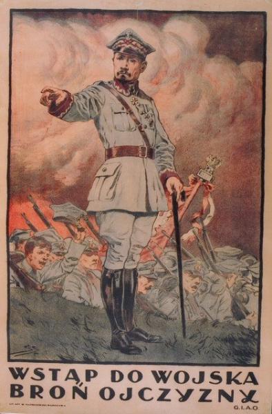Stanisław Sawiczewski, WSTĄP DO WOJSKA BROŃ OJCZYZNY, 1920, plakat