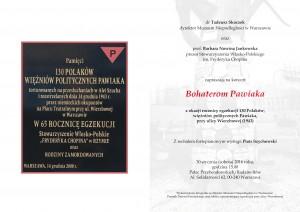 Zaproszenie Pawiak - œrodek