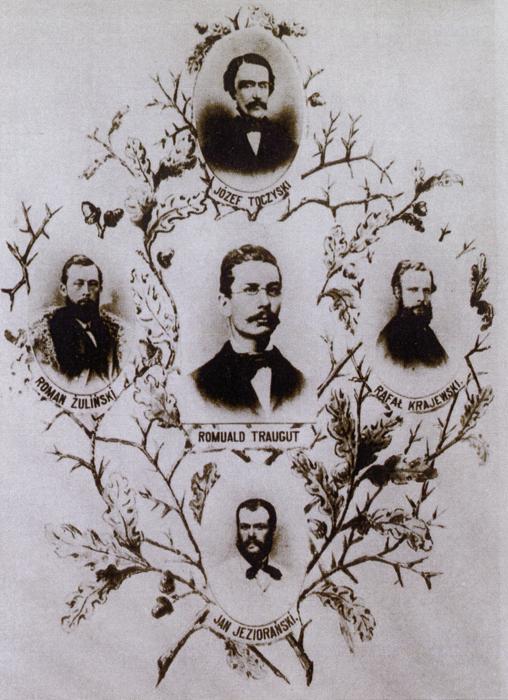 Członkowie Rządu Narodowego straceni 5 VIII 1864 r. na stokach Cytadeli