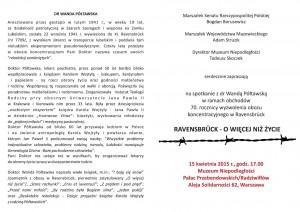 Zaproszenie dr Półtawska