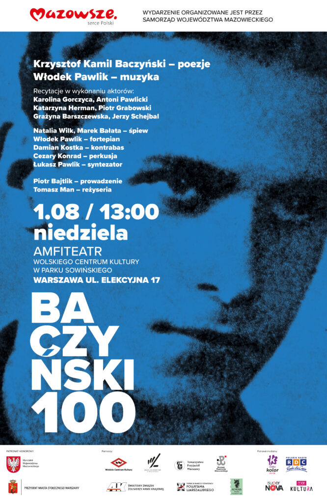 PLAKAT K. K. Baczyński 100